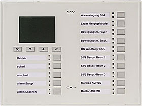 LCD/LED keypad, complete set, white, for Mb Secure