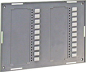 LED front device including electronics, grey
