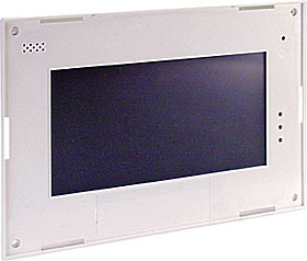 Touch front device including electronics, white