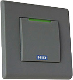 Contactless reader for insertion into EU install box, decor bezel