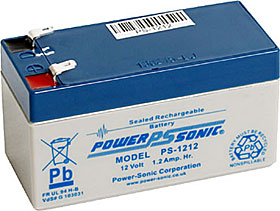 Battery 12V/1,2Ah VdS approved with terminals Faston 187