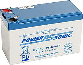 Battery 12V/7Ah VdS approved with terminals Faston 187