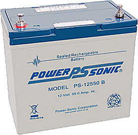 Battery 12V/55Ah with terminals Bolt M6