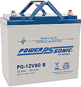 Battery 12V/80Ah with terminals Bolt M6