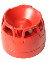 ENscape sounder, red, low profile base, EN54-3