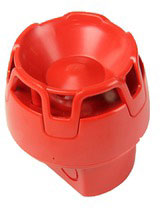 ENscape sounder, red, IP65 deep base, EN54-3