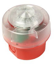 ENscape beacon, red, red flash, IP65 deep base, EN54-23