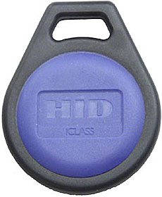 Contactless keyfob iCLASS SE + iCLASS (Classic), 2Kb memory, rounded