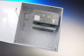 "EN54 certified PSU for fire systems, 27,6 VDC / 10,0+0,7 A (select.), ""H"" box."