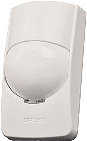PIR detector, range 15m, Digital Quad Zone Logic, selectable sensitivity L/M/H