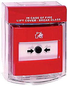 New Call Point Stopper surface mounted - with fire label