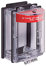 Weather Stopper surface mounted, red only - with fire label