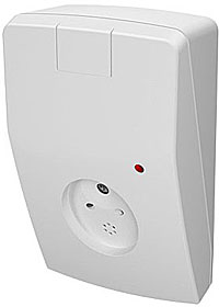 Acoustic glass break detector with active anti-masking  function, range max. 9 m