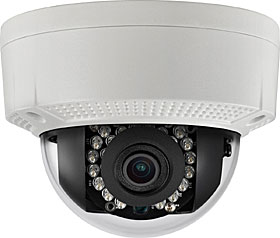 Outdoor IP dome camera, TD/N, HD 720p, 1.3MP, f=2.8mm, WDR, IR 30m, IP66