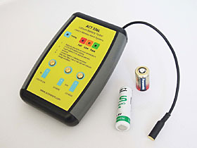 Tester for testing of lithium 3V / 3,6V batteries used in wireless alarm systems