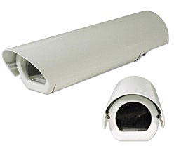 Outdoor camera housing, AL, heater, 230V, sunshield, IP66