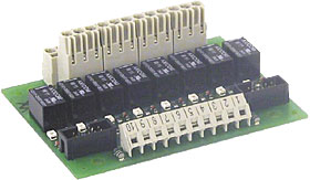Relay module for BC216 series panels, 8 outputs 60 VDC max.