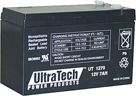 Battery ULTRATECH 12V / 7Ah with terminals FASTON 250