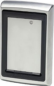 HID-compatible proximity reader in anti-vandal finish,  read range up to 4 cm