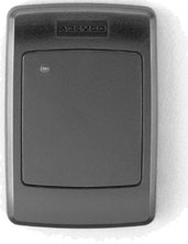 HID-compatible proximity reader, US gangbox mountable, read range up to 10 cm