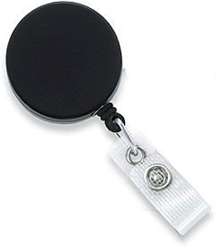 Heavy-duty combo clip-on badge reel with steel wire