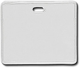 Horizontal clear vinyl card holder with holes