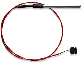Stainless steel high temp (red) thermistor probe 0° to +150°C