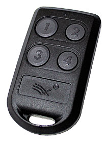Wireless 4-channel keyfob transmitter with inbulit RFID tag (Pyramid Prox)
