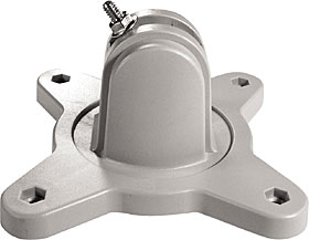 Adjustment mounting bracket for detector head or prism plate.