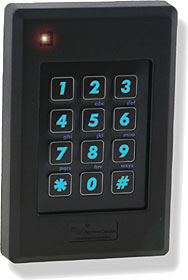 Pyramid & HID proximity reader with backlit capacitive keypad