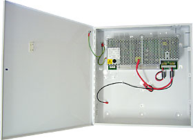 "EN54 certified intelligent PSU for fire systems, 27,6 VDC / 5,0+1,6 A, ""E"" box."