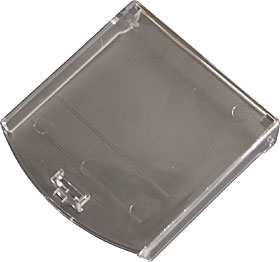 Polycarbonate cover with security tie for CX series call points.