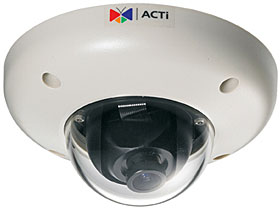 "IP kamera dome, barevná, antivandal, 1/3"", 1,3MPix, 12V, f=3.6mm, audio, IP66"