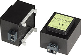 Switch mode adapter with terminals, DIN-rail mounting, output 12Vdc/1A