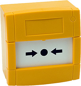 Yellow Call Point, N/C or N/O Contact, Surface, Flexi, Plain