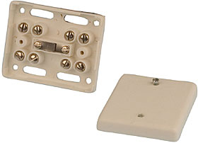 8 way junction box - white