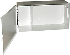 Universal metal cover without lock, size 260 x 540 x 200 mm (H x W x D)
