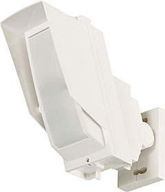 Battery operated PIR detector, max. 24 x 2 m, mount. height 2,5 - 3 m, AM