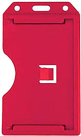 Rigid vertical multi-card holder, red