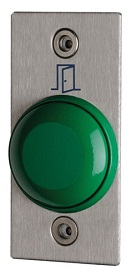 Outdoor heavy-duty domed exit button with faceplate, NO+NC contacts