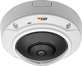 AXIS M3007-PV - IP hemisférická dome kamera, 5MP, f=1.3mm, antivandal, IP42